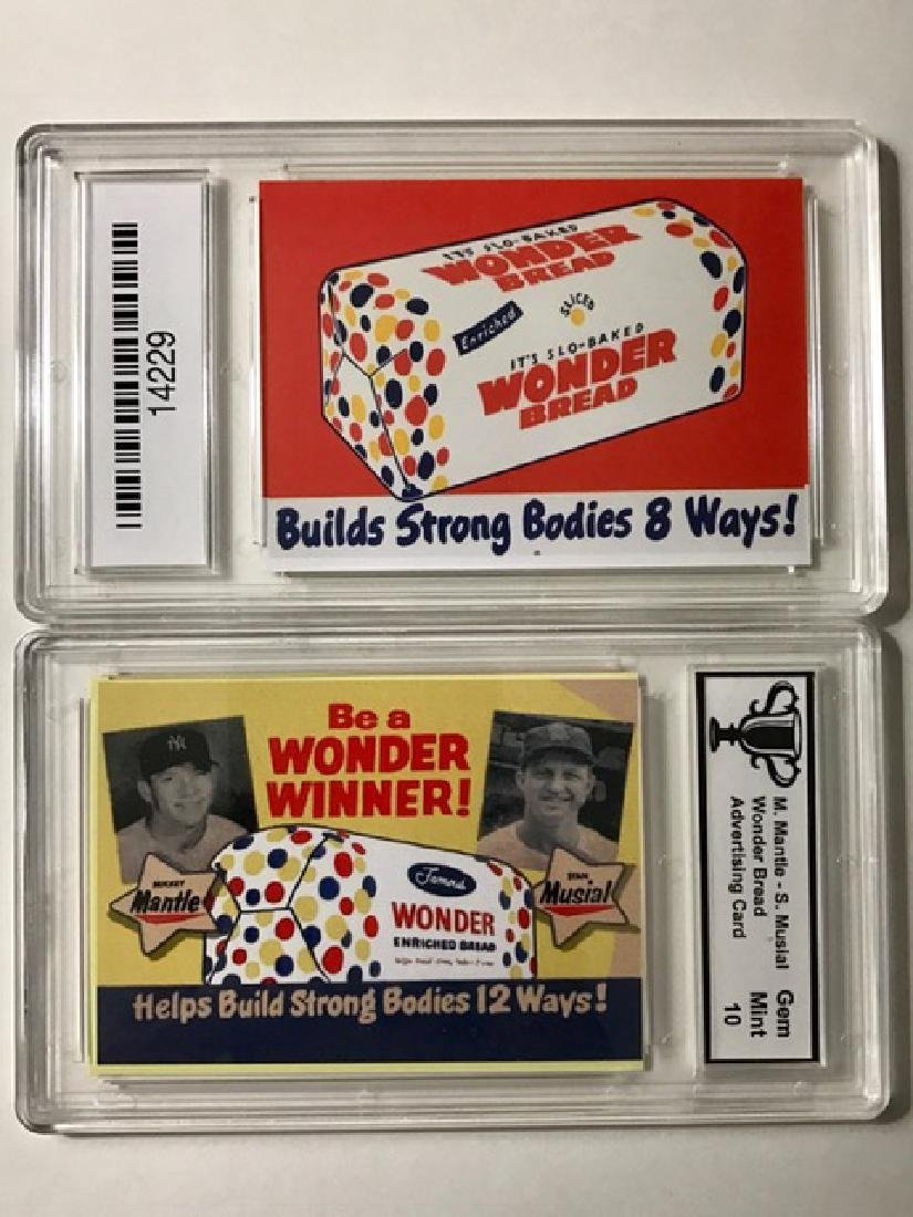 M. MANTLE/S. MUSIAL Advertising Baseball Card