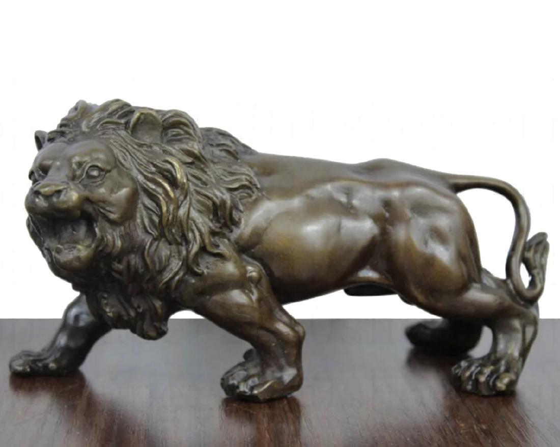 Vintage Solid Bronze Studio Made LION Sculpture