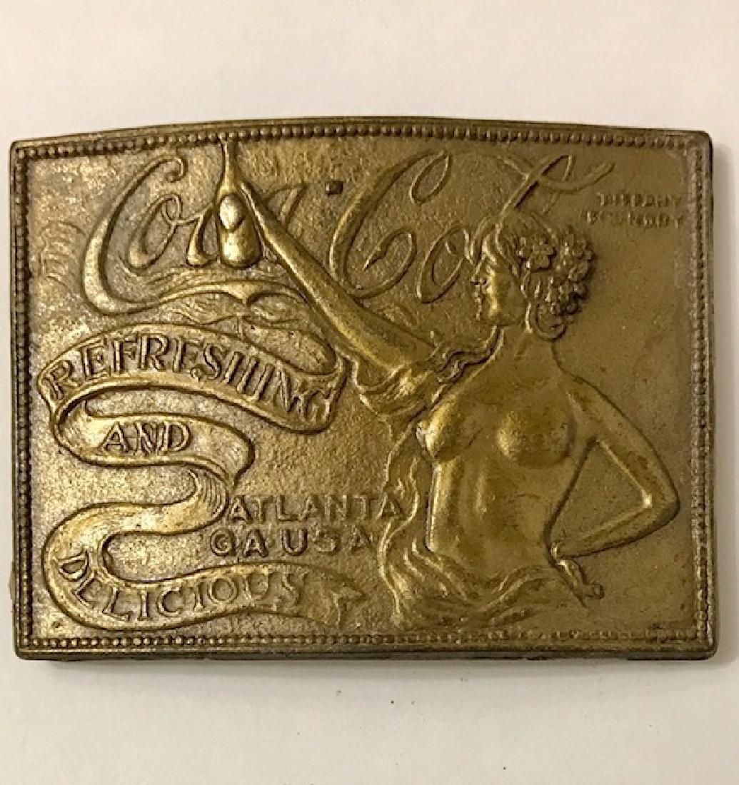 Vintage Risqué COCA-COLA Embossed Belt Buckle