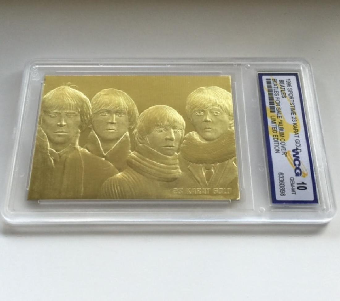 Gem 10 Rare 23k Gold BEATLES *Album Cover* Card