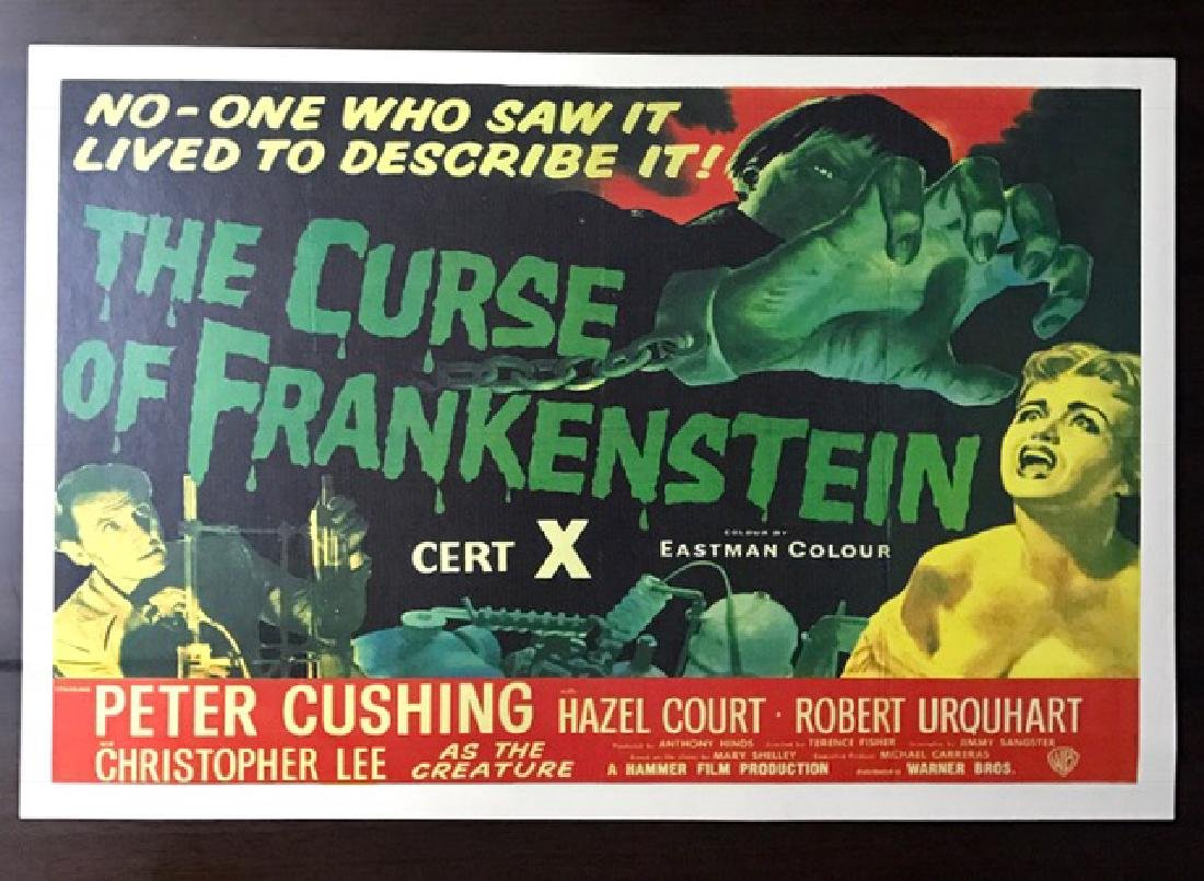 1954 The Curse of Frankenstein Movie Lobby Poster