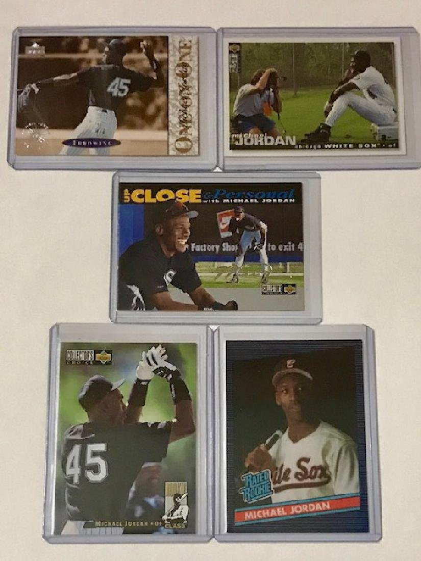 Lot of 5 MICHAEL JORDAN Rookie Baseball Cards