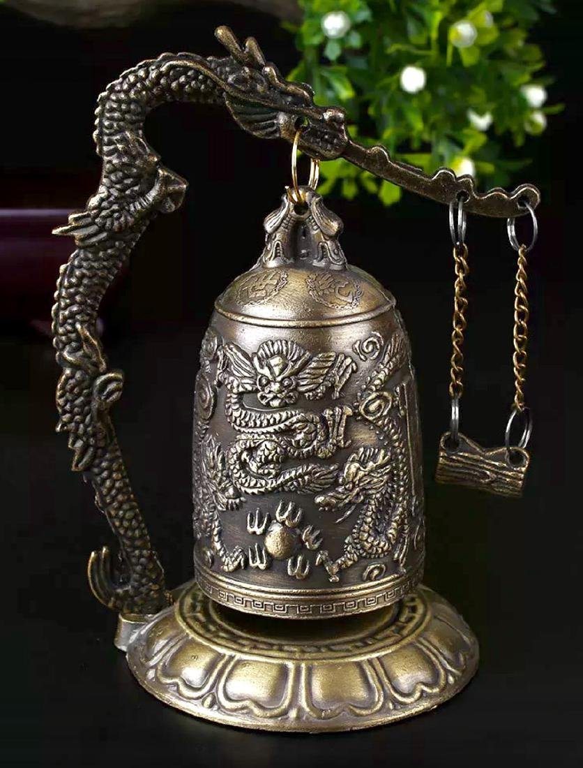 Chinese Buddhist Temple Bronze Dragon Bell