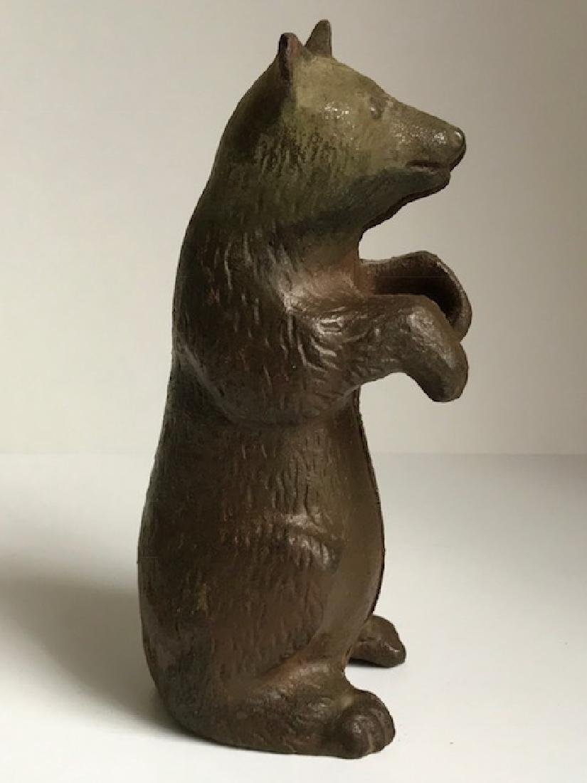 Vintage Style Cast Iron Grizzly Bear Coin Bank