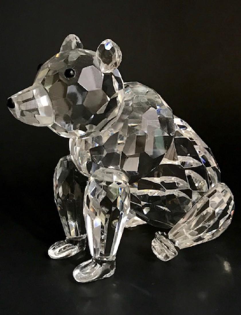Large SHANNON Irish Crystal Swarovski style Bear - 2