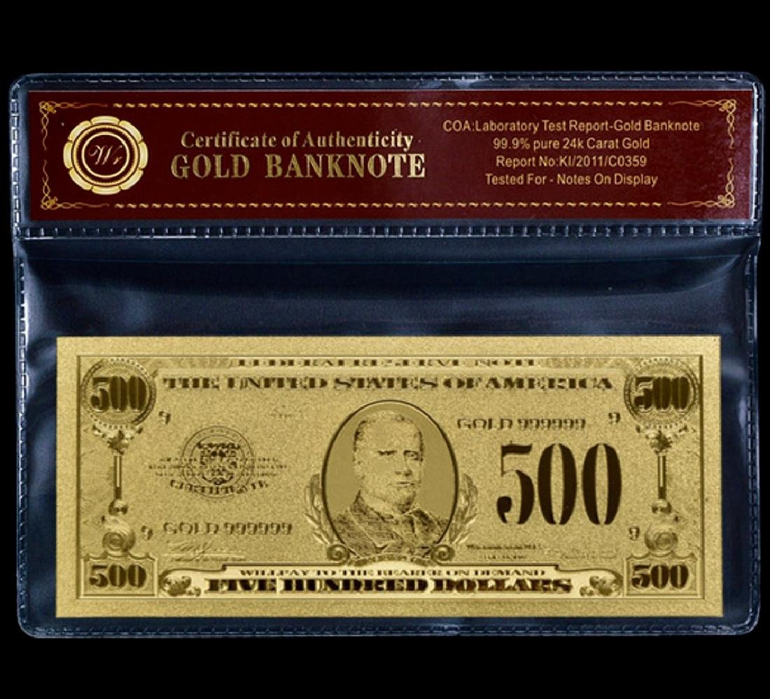 1928 Lab Tested $500 Gold Certificate Banknote