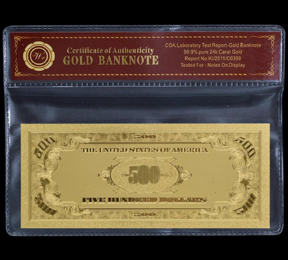 1928 Lab Tested $500 Gold Certificate Banknote - 2