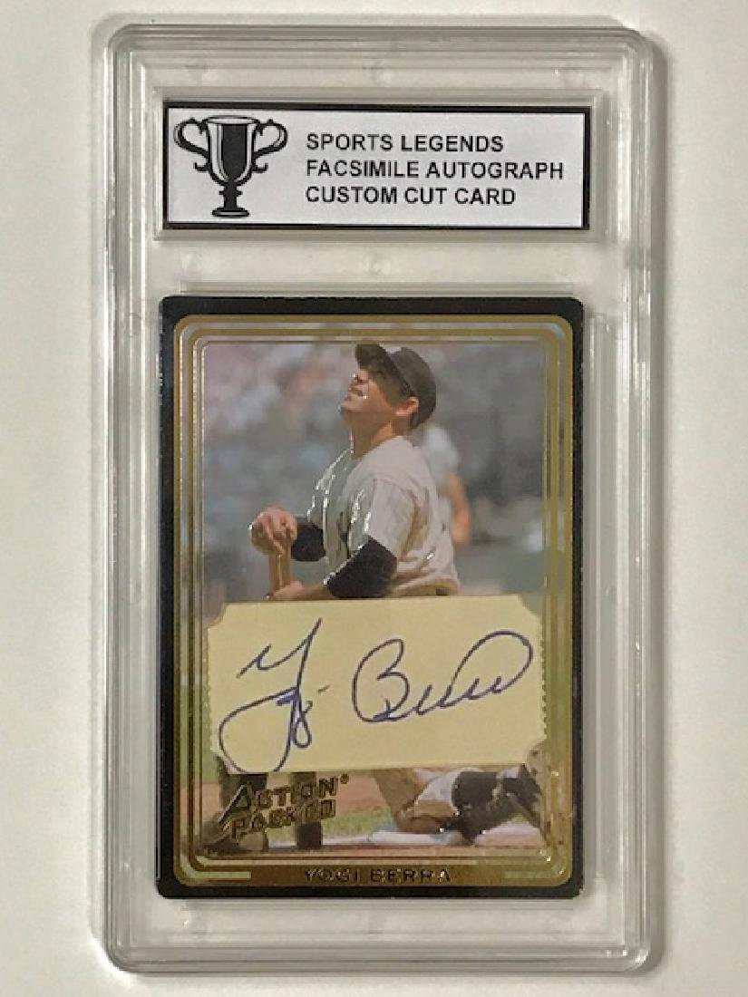 YOGI BERRA Sports Legends Custom Baseball Card