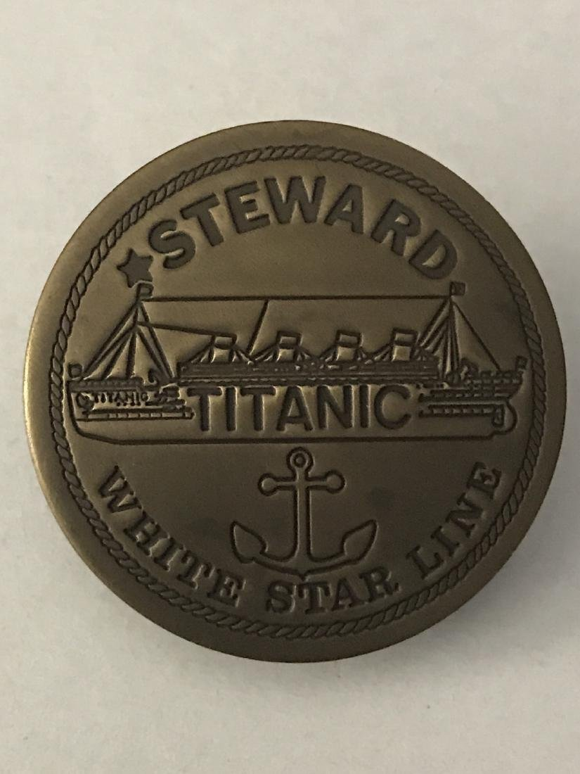 White Star Line TITANIC Employee Uniform Badge