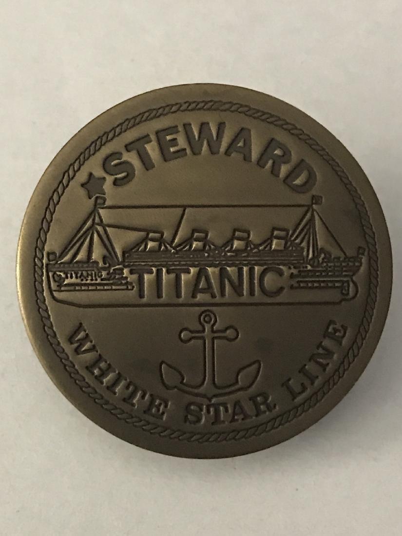 White Star Line TITANIC Employee Uniform Badge