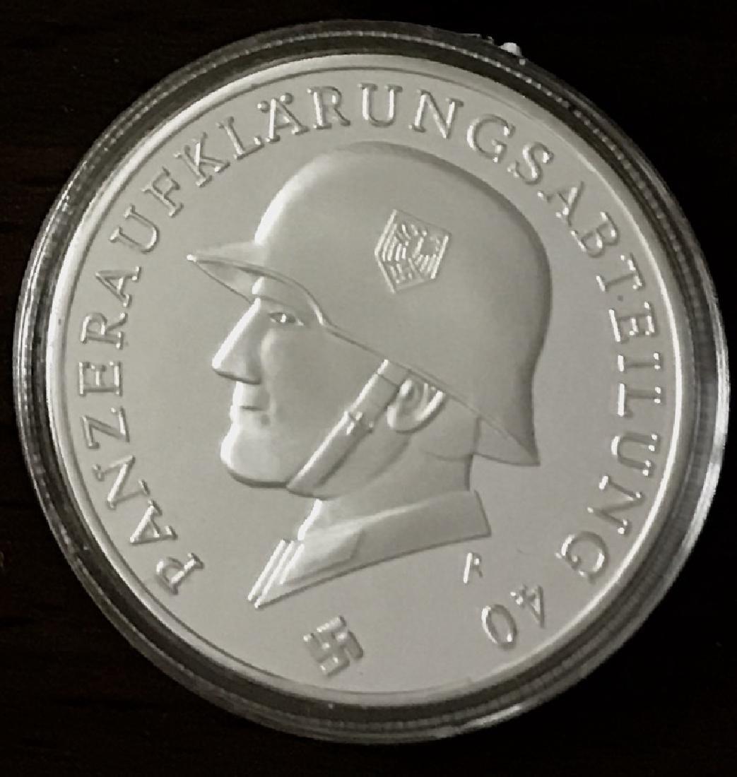 1oz WW2 Silver Clad German Panzer Division Medal