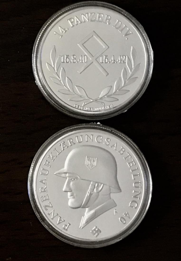 1oz WW2 Silver Clad German Panzer Division Medal - 2
