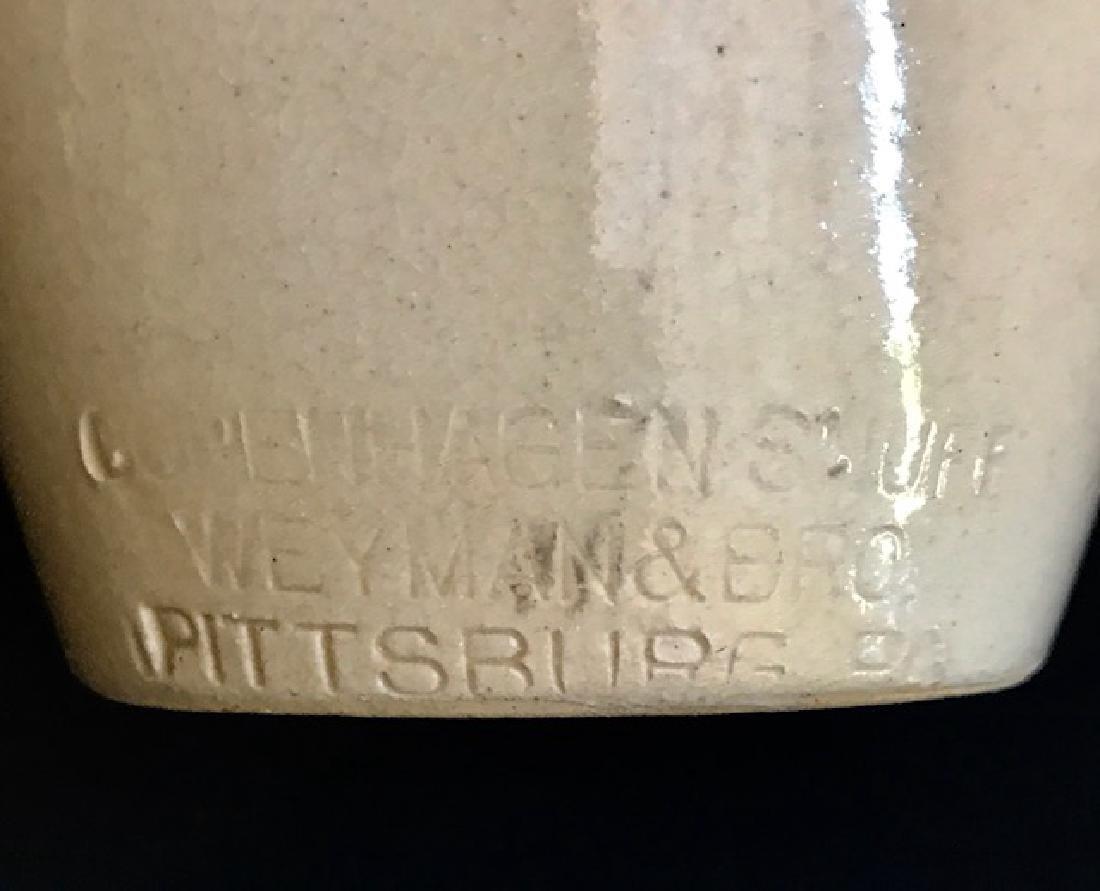 Rare 1870's Copenhagen Snuff Stoneware Pottery - 2
