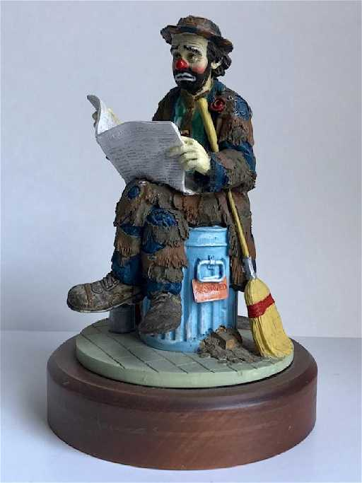 Emmett kelly jr clown figurines flambro