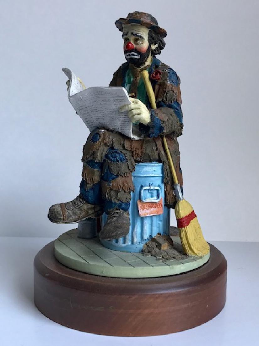 Limited Edition EMMETT KELLY Hobo Clown Figurine