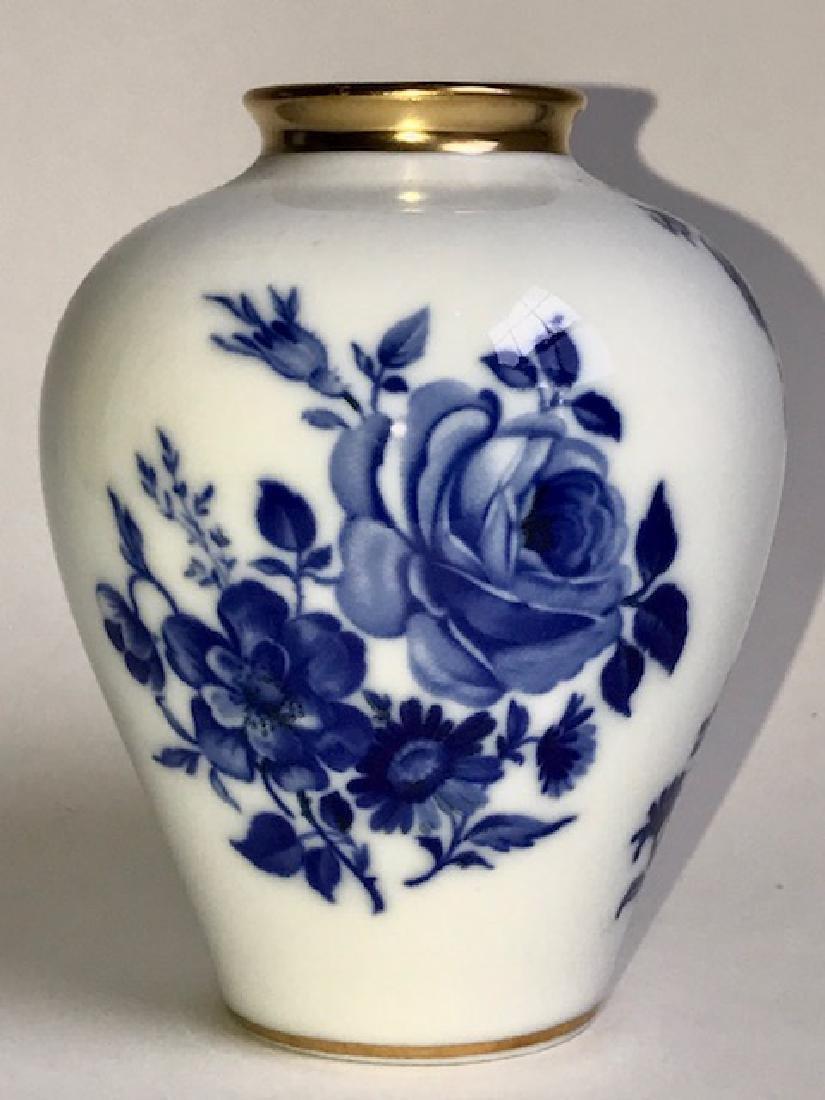 Signed KPM Germany ECHT Cobalt Porcelain Vase