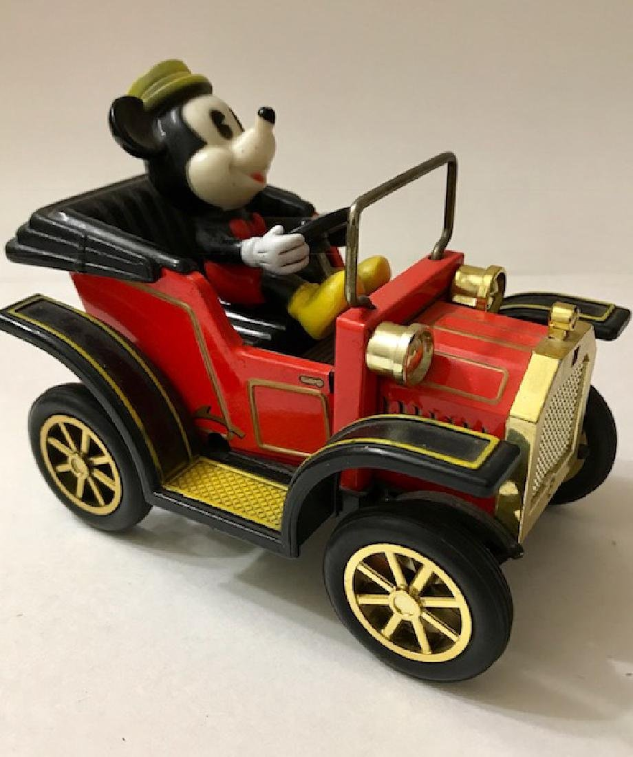 Early Disney MICKEY MOUSE Japanese Tin Toy Car