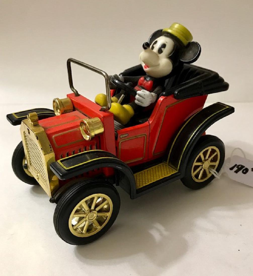 Early Disney MICKEY MOUSE Japanese Tin Toy Car - 2