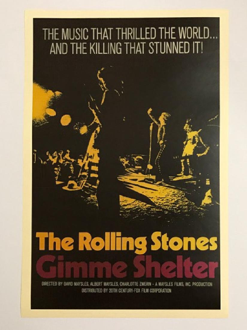 ROLLING STONES Theatre Concert Lobby Card Poster