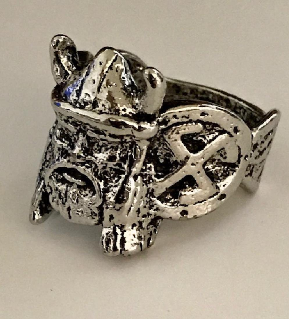 German Nazi Trench Art Militants Silver tone Ring