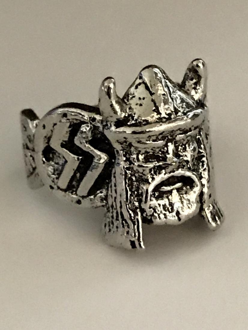 German Nazi Trench Art Militants Silver tone Ring - 3
