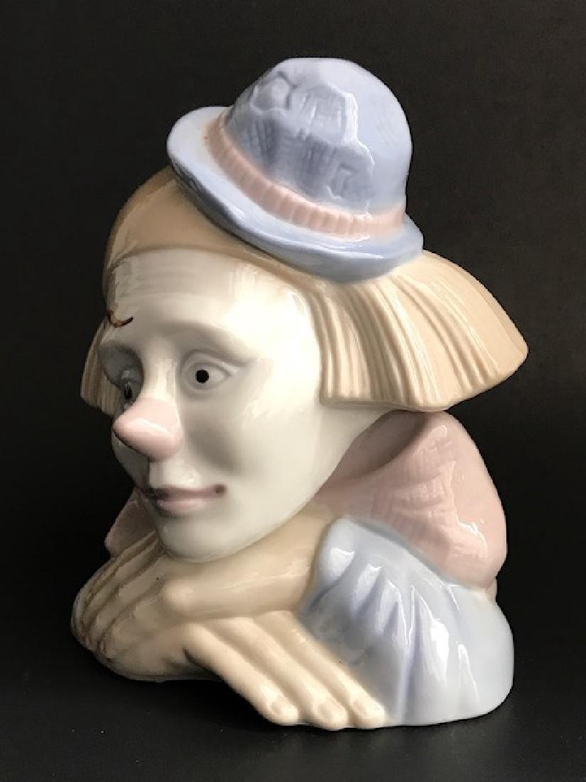 LLADRO style Porcelain Clown/Jester Bust
