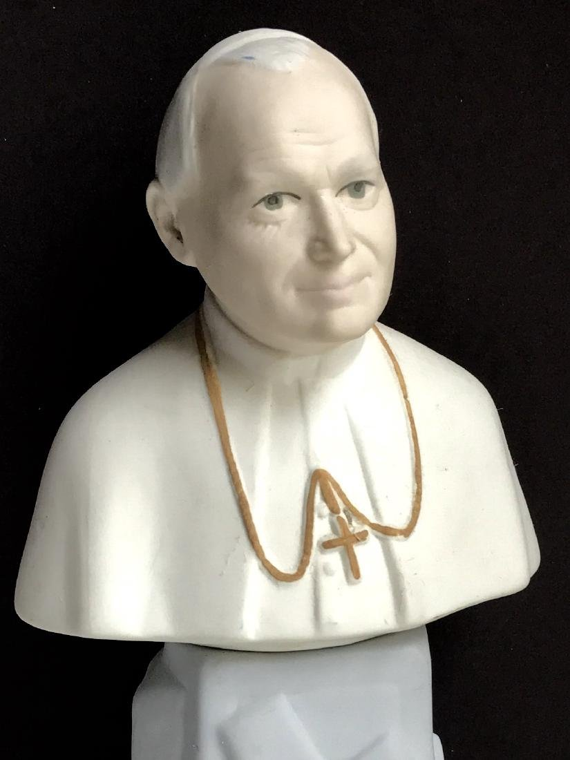 Rare Signed Pope John Paul II Porcelain Figure/SPAIN - 2