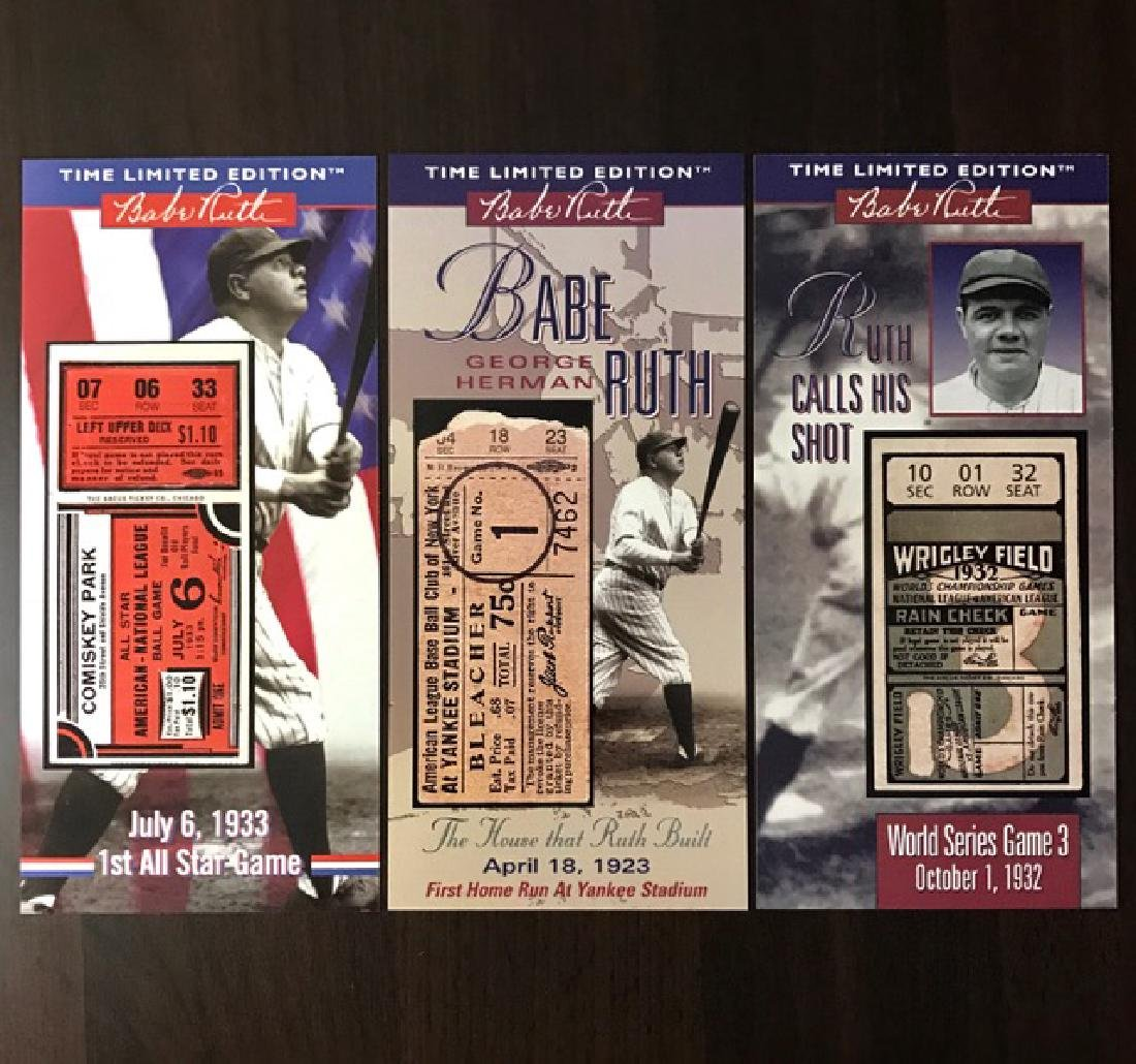 Lot of 3 BABE RUTH Milestone Baseball Game Tickets