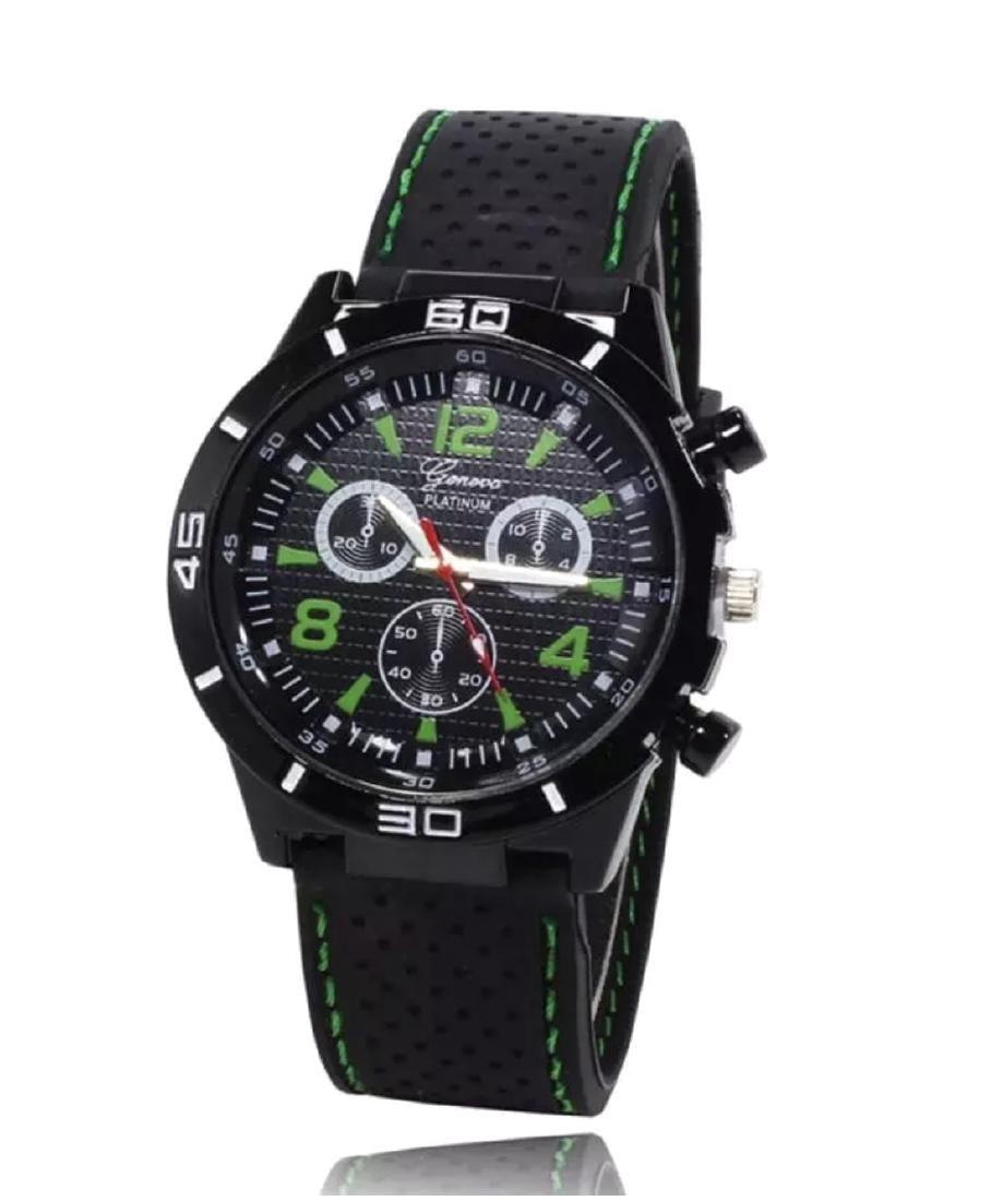 New Men's Geneva Platinum Watch