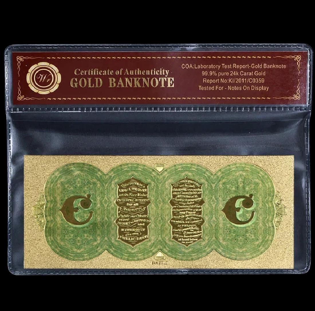 1864 Civil War 24k Gold $100 U.S. Treasury Note - 2