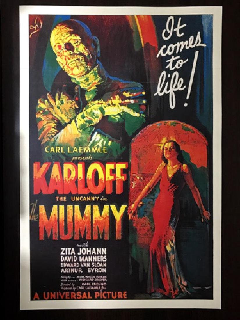 1932 The MUMMY Movie Theatre Lobby Card Poster