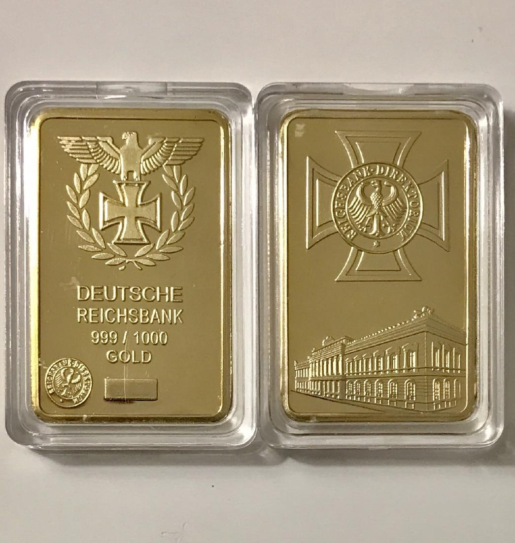 "German ""DEUTSCHE REICHSBANK"" Gold Clad Bar"