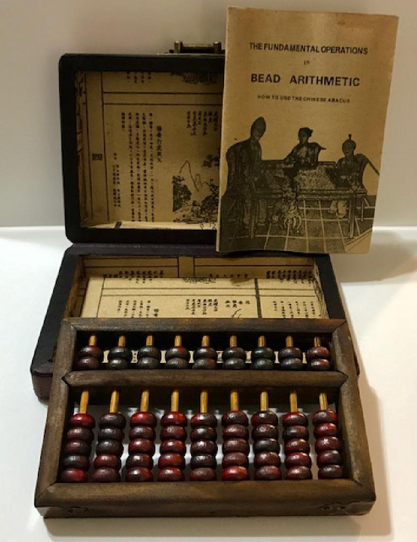 Vintage Chinese ABACUS in Original Leather Box