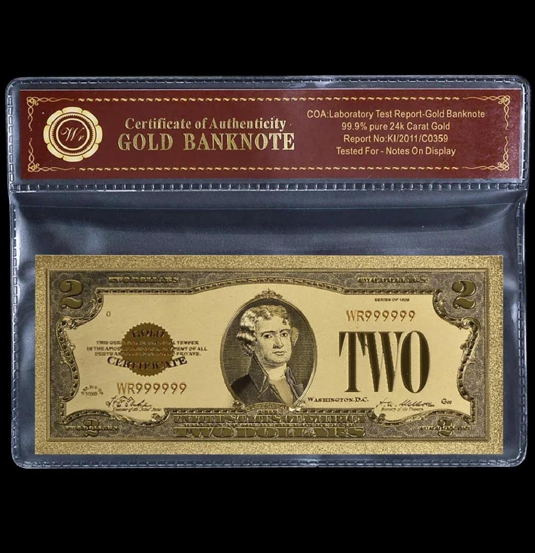 1928 Lab Tested $2 Gold Certificate Banknote