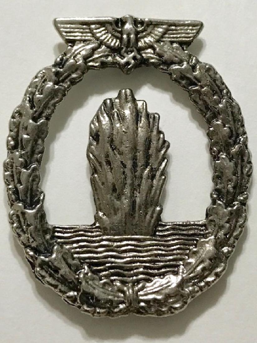 German Nazi Militants Silver Tone Uniform Pin