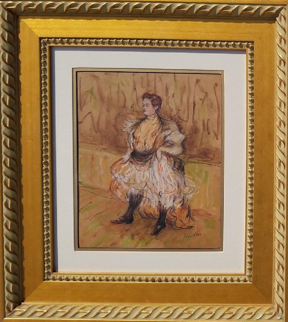 COLOR PASTEL ON PAPER Signed Lautrec