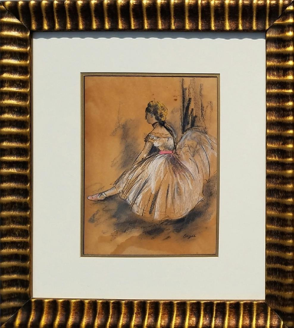 COLOR PASTEL ON PAPER Signed Degas