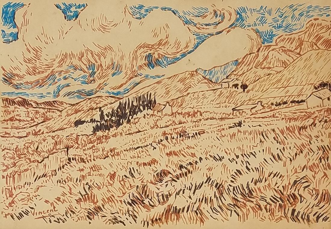 INK ON PAPPER Signed Vincent