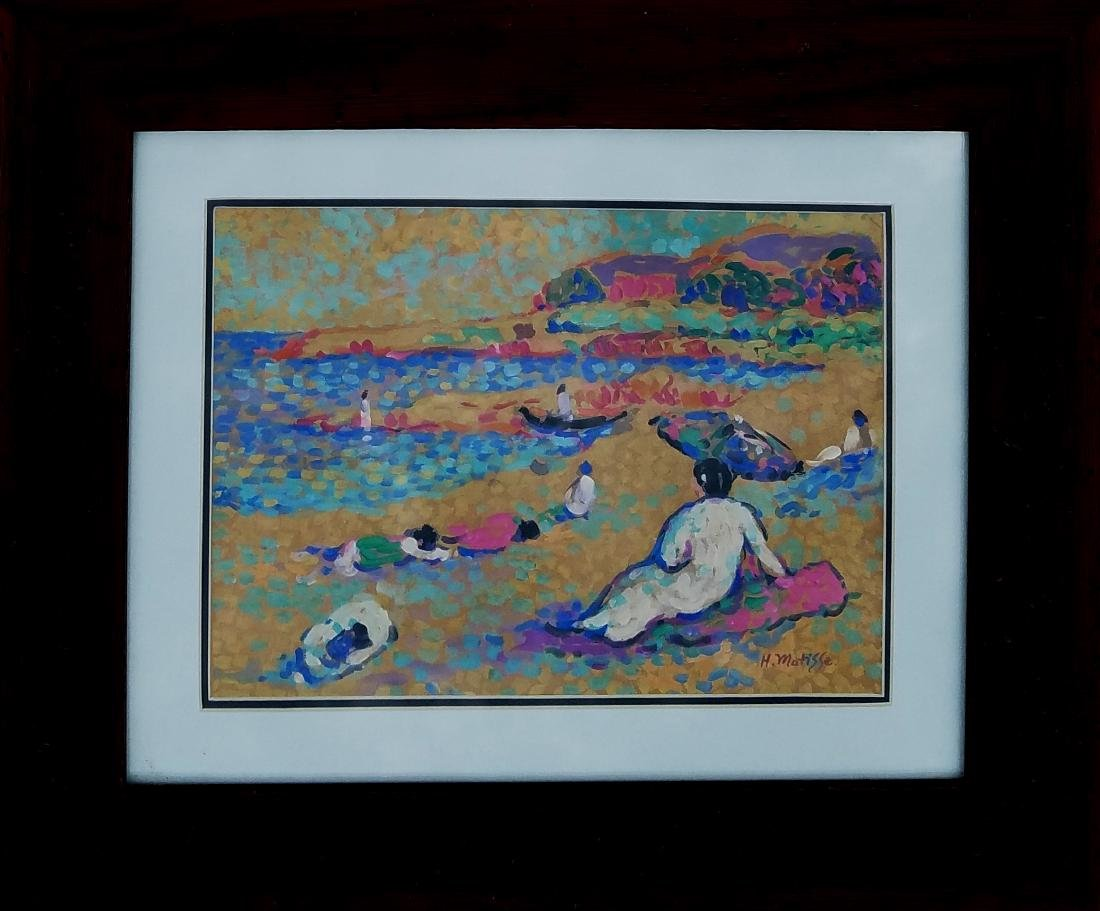 GOUACHE ON PAPER SIGNED H MATISSE