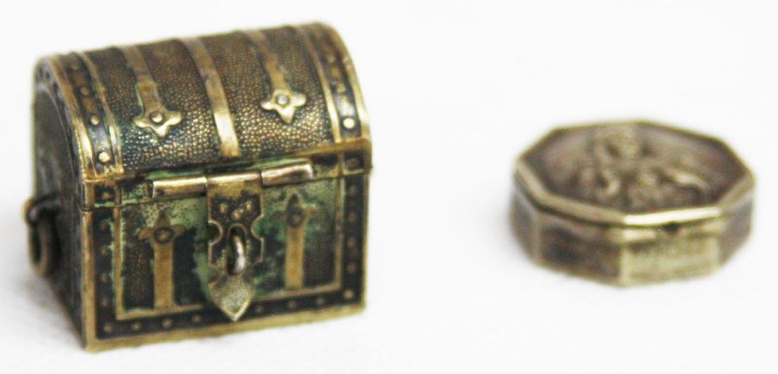 ANTIQUE MINIATURE STERLING SILVER TRINKET BOXES