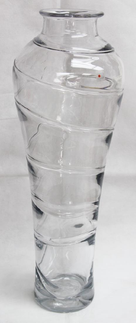 VINTAGE BLENKO LARGE GLASS VASE