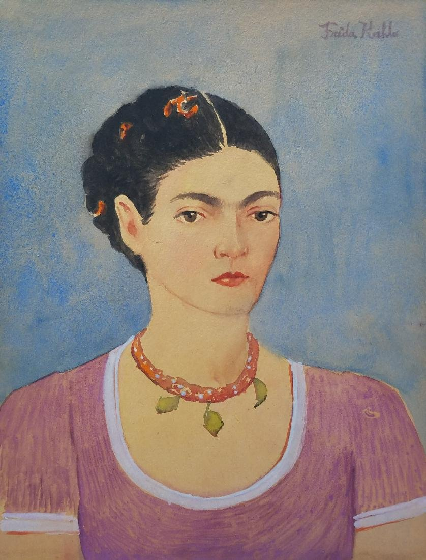 WATERCOLOR ON PAPER (ATTRIB) TO FRIDA KAHLO