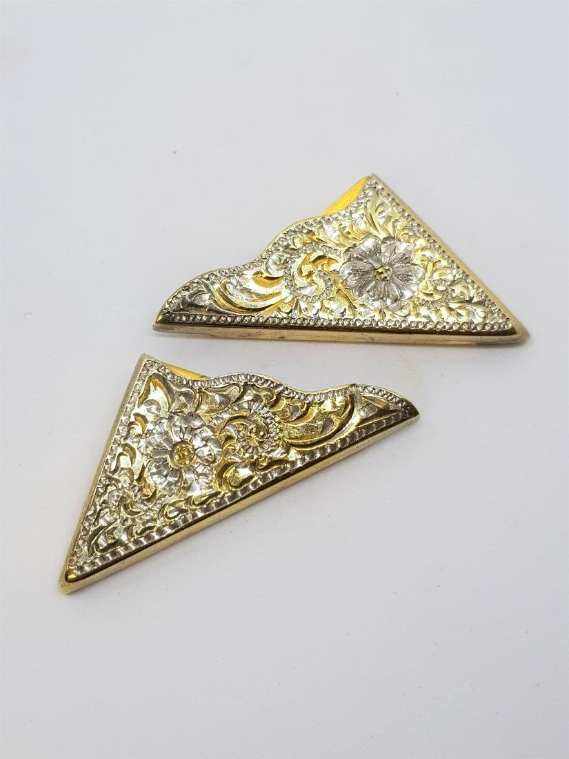 CRUMRINE GOLD ON SILVER COLLAR TIPS