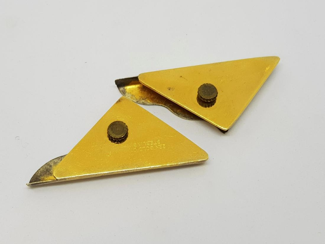 CRUMRINE GOLD ON SILVER COLLAR TIPS - 2