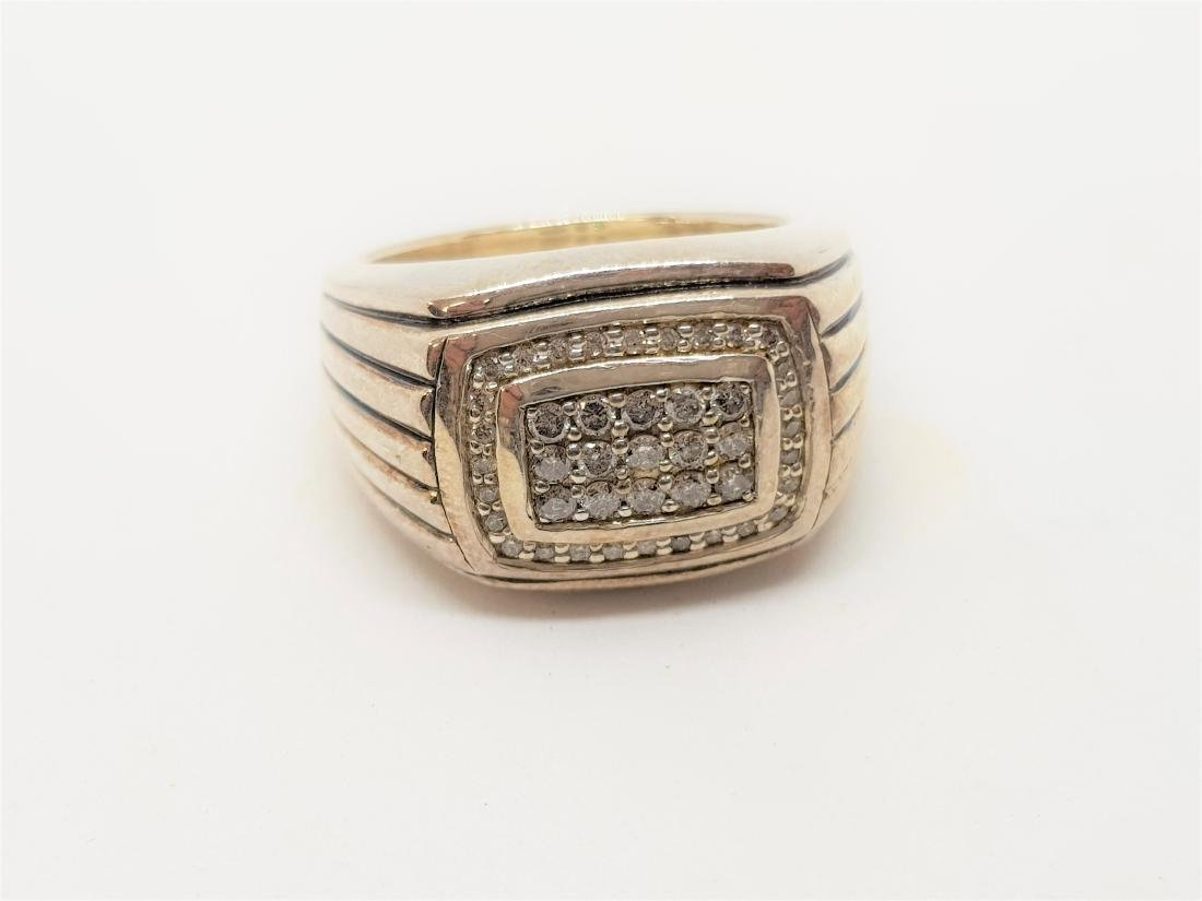 DAVID YURMAN STYLE DIAMOND MENS RING