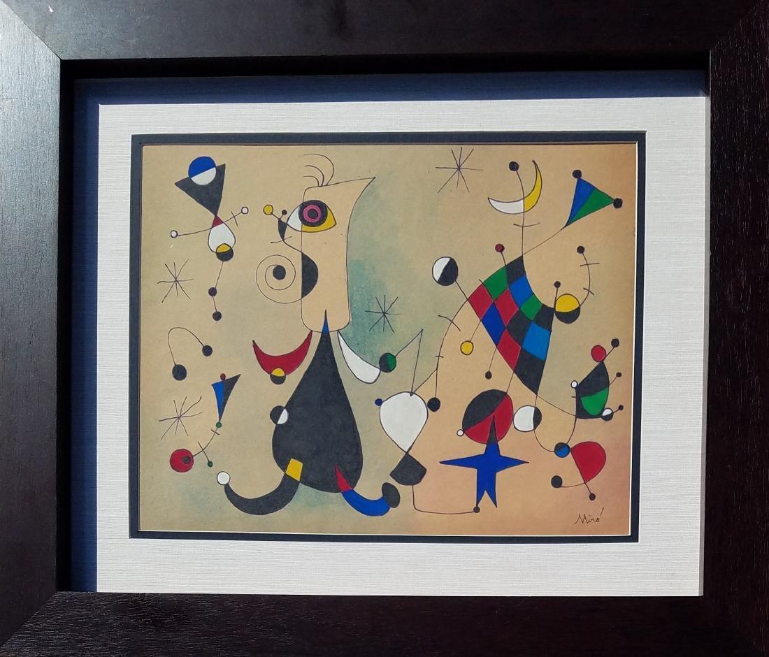 MIRO GOUACHE & INK ON PAPER