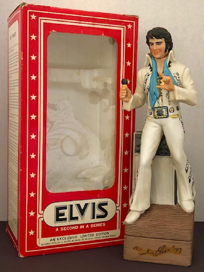 Rare 1977 ELVIS PRESLEY Porcelain Musical Decanter