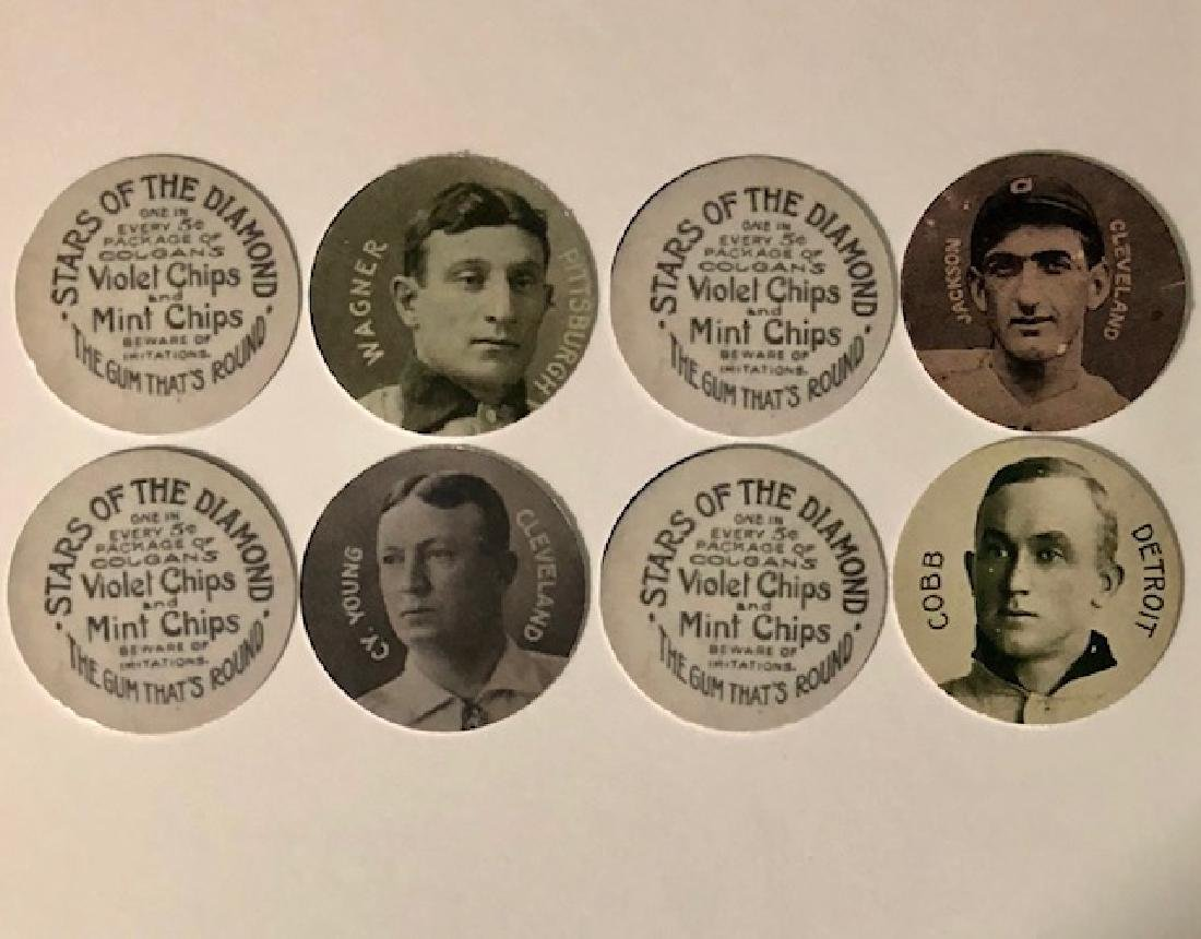 Lot of 4 Bubble Gum Advertising Baseball Promo Coins