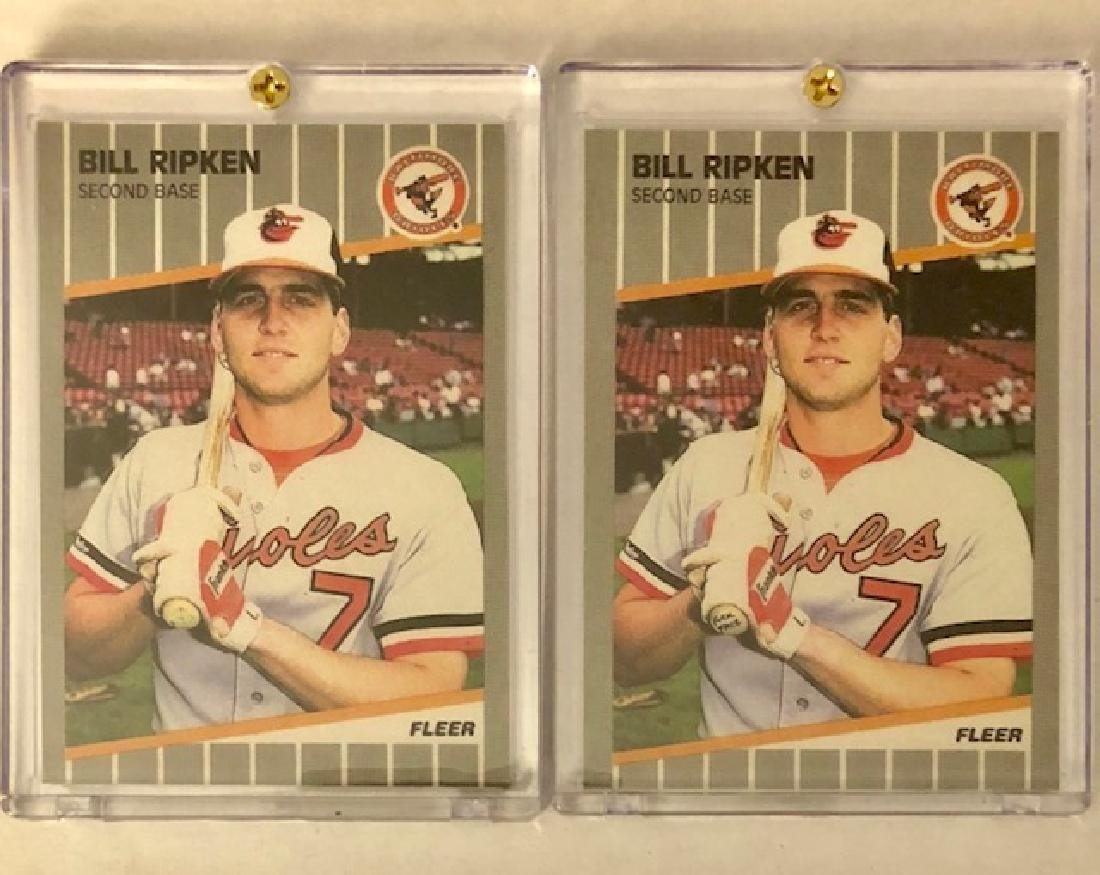 """Lot of 2 Error """"FUCK FACE"""" Billy Ripken Baseball Cards"""