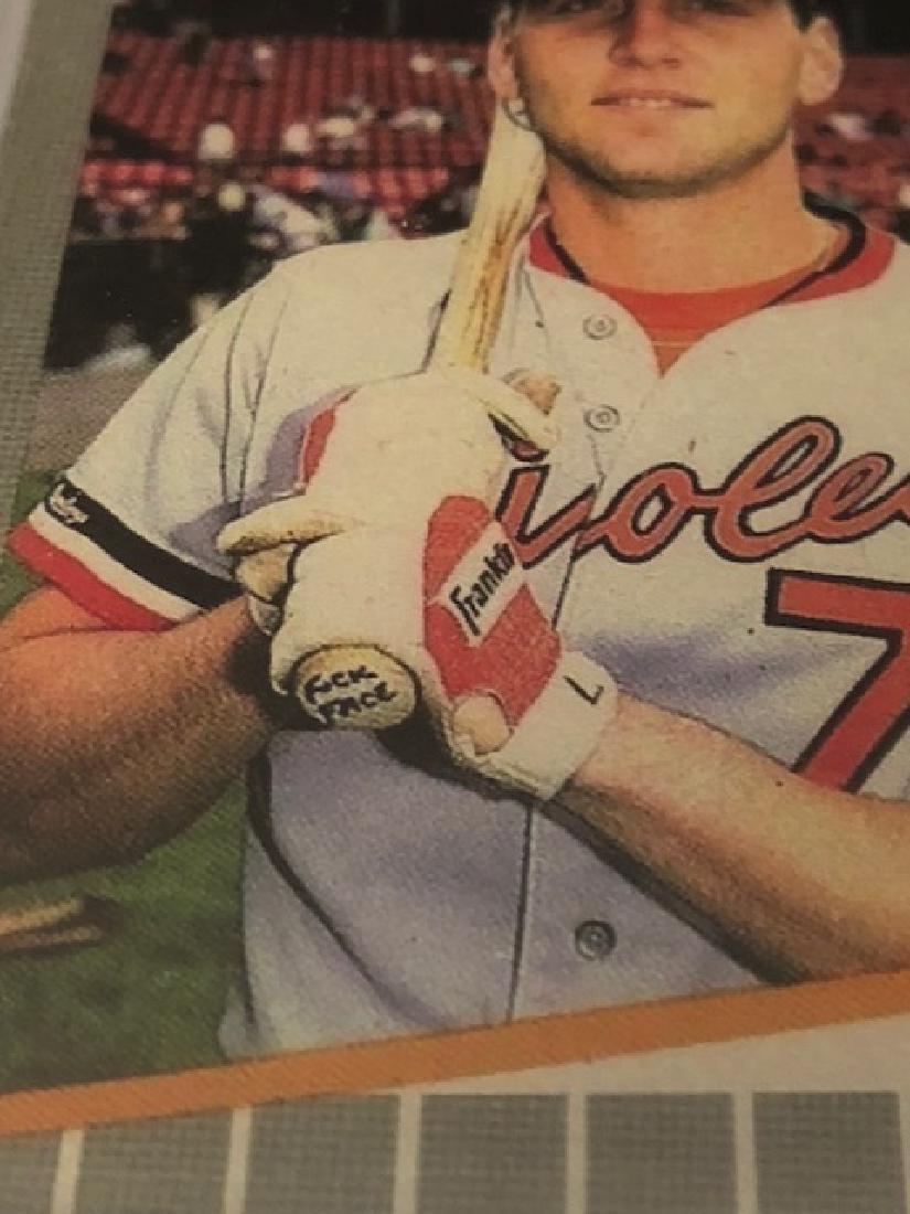 """Lot of 2 Error """"FUCK FACE"""" Billy Ripken Baseball Cards - 2"""